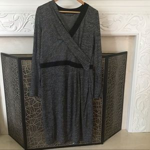 Adrianna Pappell side zip mid length dress